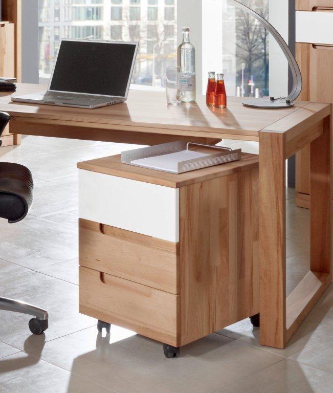 rollcontainer arcona 3 schubladen kernbuche ge lt. Black Bedroom Furniture Sets. Home Design Ideas