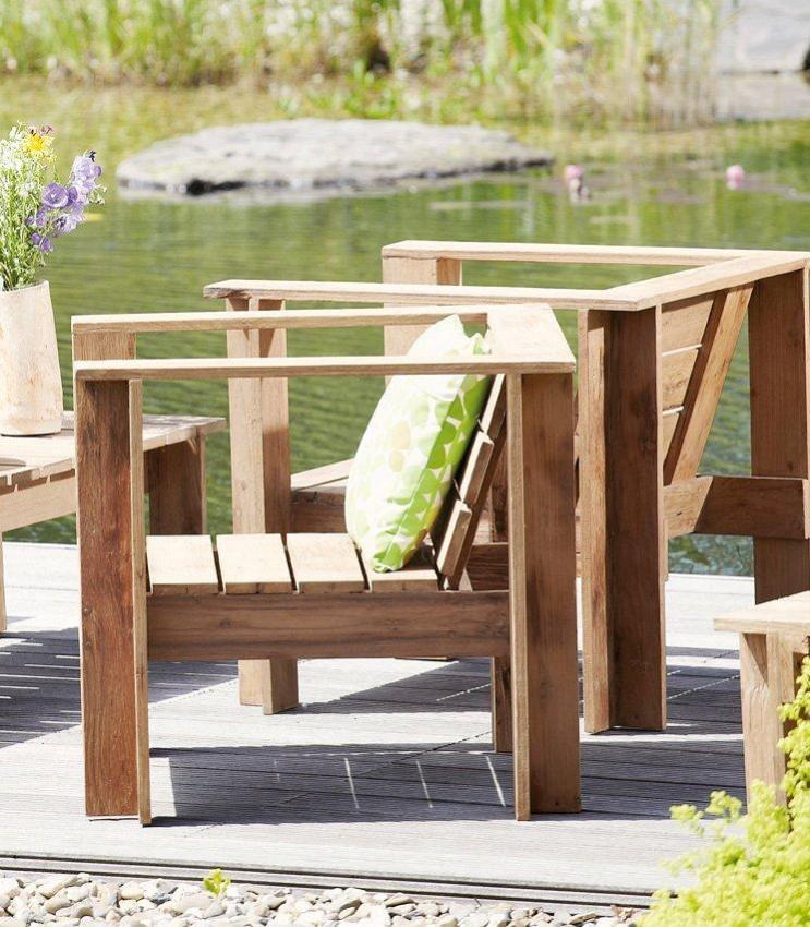 Loungesessel Teak Sessel BATTEN Gartensessel von Jan Kurtz