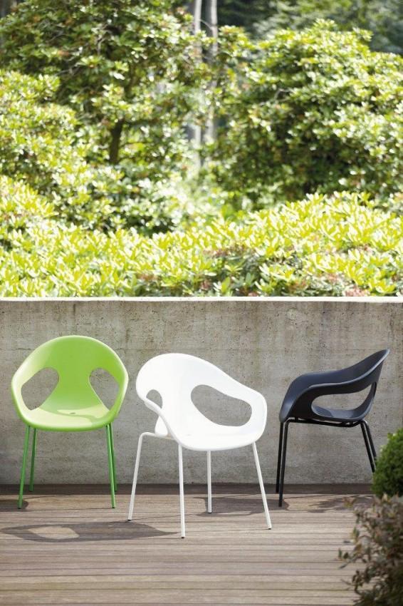 Gartenstuhl SUNNY 4er-Set Stuhl mit Sitzschale von Jan Kurtz