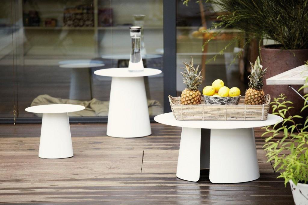 Beistelltisch FEEL kleiner Tisch rund Aluminium weiß von Jan Kurtz