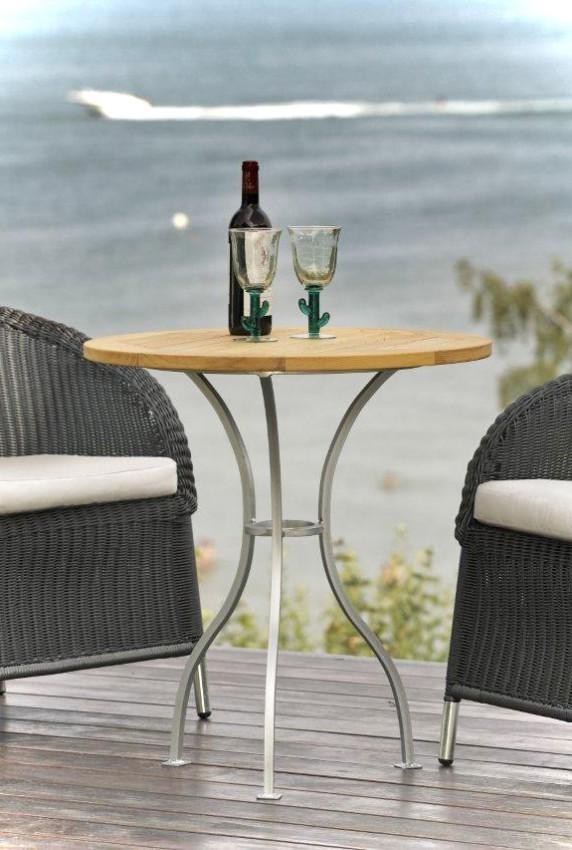 Gartentisch Beistelltisch ROMANTIK Tisch runde Platte von Jan Kurtz