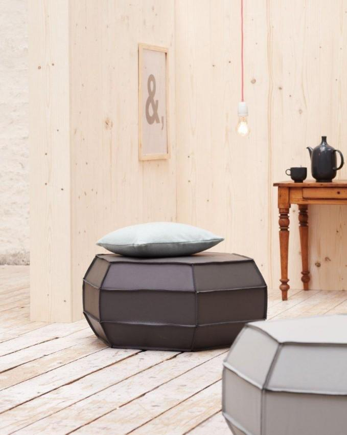 Sitzwürfel ASMUS - Brigitte Home Collection - Anthrazit oder Hellgrau
