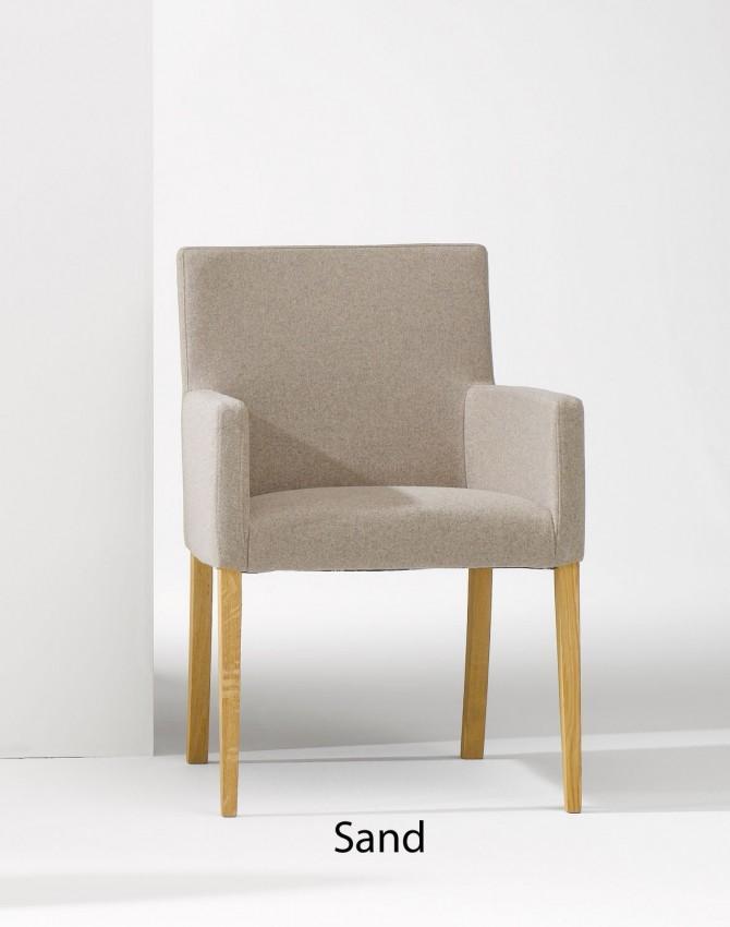 Loden Sessel AUGUS von Jan Kurtz in 3 Farben lieferbar - Gestell Eiche