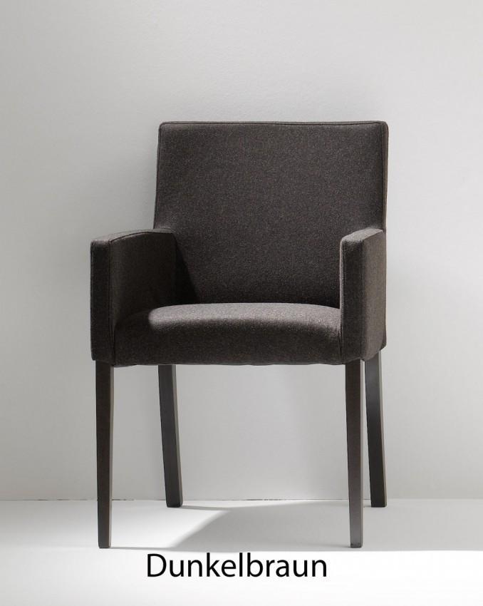 Loden Sessel AUGUS von Jan Kurtz Gestell Buche Wengefarbig