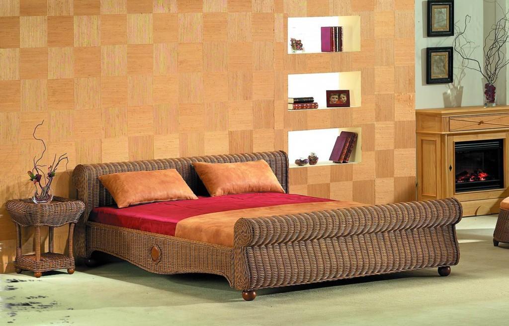 Bett Rattanbett Dreams Farbe Muskat - 2 Größen lieferbar