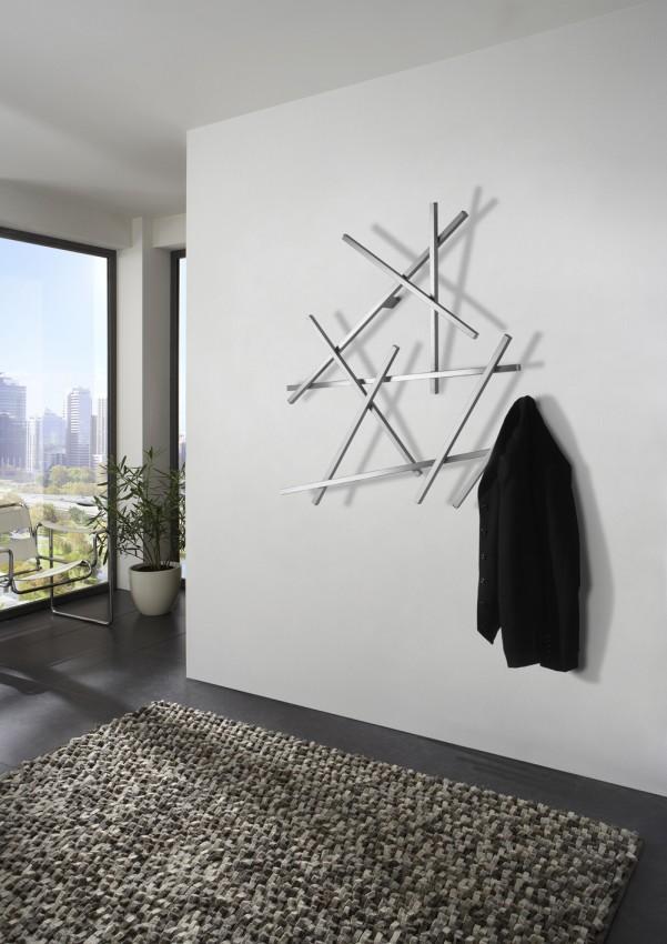 Garderobe wandgarderobe matches klein edelstahl von spinder design - Wandgarderobe design ...