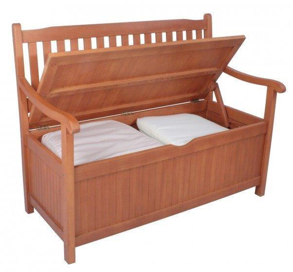 truhenbank f r den garten aus fsc eukalyptus 2 sitzig 107 cm. Black Bedroom Furniture Sets. Home Design Ideas