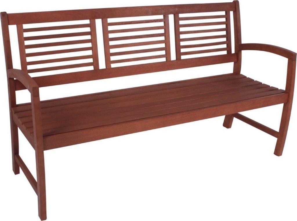 gartenbank madison 3 sitzig mit armlehne aus fsc eukalyptus. Black Bedroom Furniture Sets. Home Design Ideas