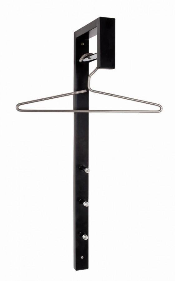 garderobe wandgarderobe spike stahl schwarz kleiderstange. Black Bedroom Furniture Sets. Home Design Ideas