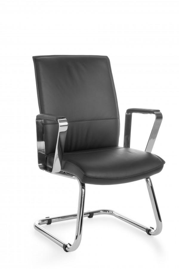freischwinger konferenzstuhl verona visitor echtleder schwarz. Black Bedroom Furniture Sets. Home Design Ideas