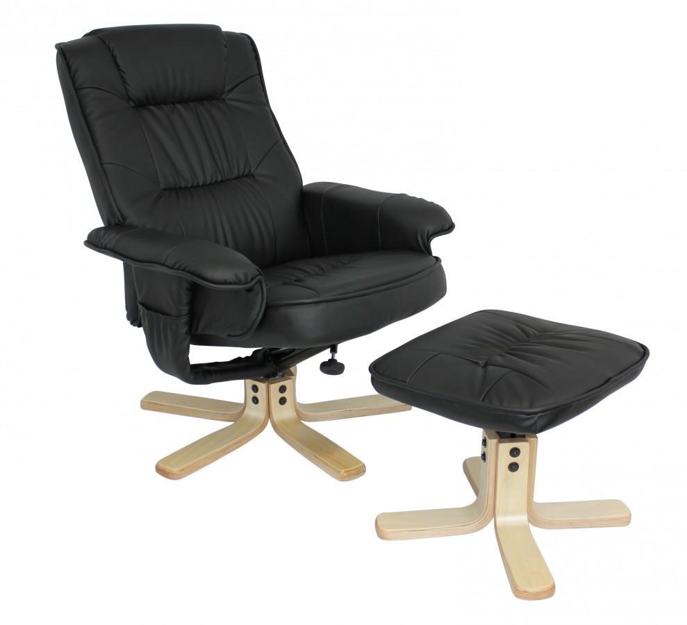 comfort fernsehsessel relaxsessel kunstleder schwarz. Black Bedroom Furniture Sets. Home Design Ideas
