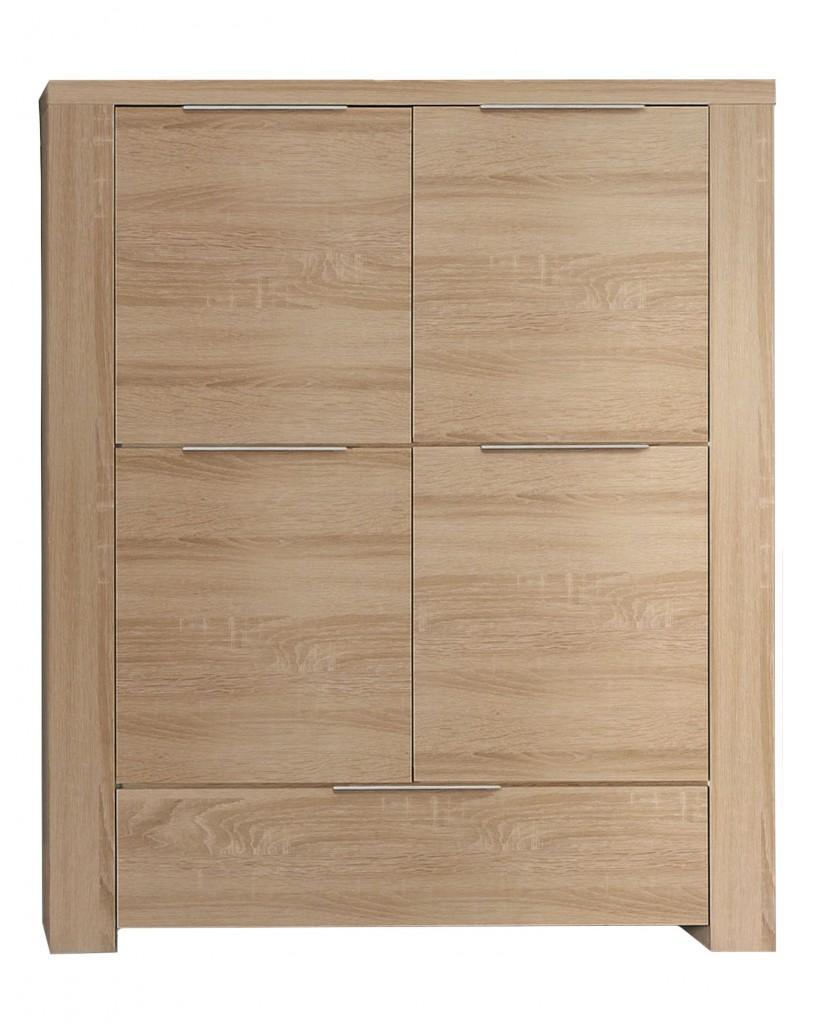 schrank sonoma eiche sideboard gibson cm weiss sonoma. Black Bedroom Furniture Sets. Home Design Ideas