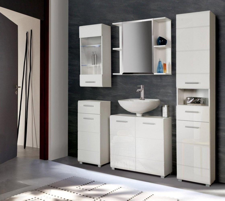 Badezimmer-Hochschrank AVEO 2 Türen, Front weiß Hochglanz, von Forte ...
