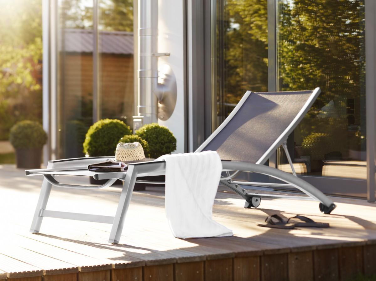 Aluminium Rollliege Sonnenliege Gartenliege Forma