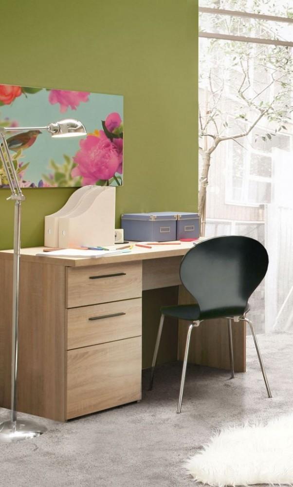 schreibtisch combino 110 cm 1 trg 1 schub sonoma eiche von forte. Black Bedroom Furniture Sets. Home Design Ideas