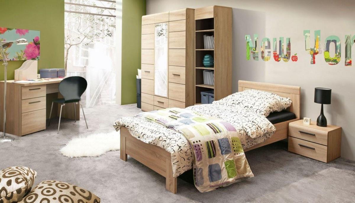 jugendzimmer combino 5 tlg komplett set sonoma eiche. Black Bedroom Furniture Sets. Home Design Ideas