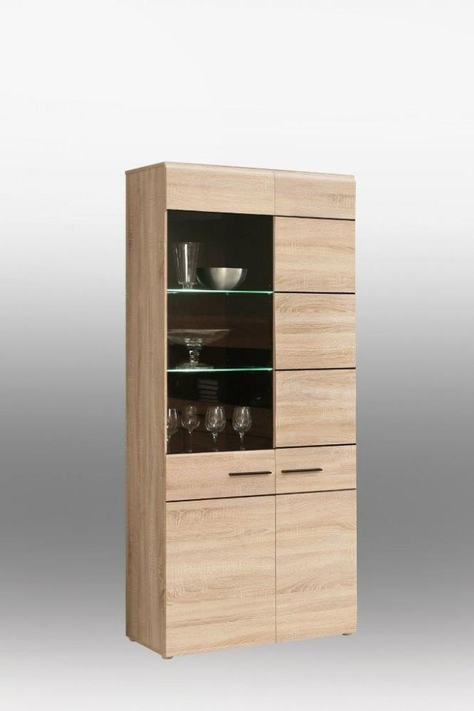 vitrine combino schrank 2 trg verglasung links sonoma. Black Bedroom Furniture Sets. Home Design Ideas
