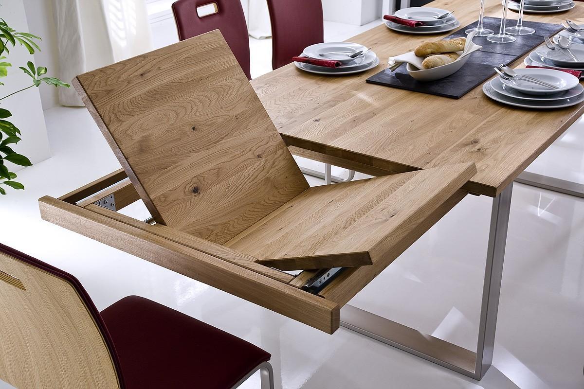 Esstisch kufentisch tina in wildeiche oder kernbuche ge lt for Esstisch wildeiche