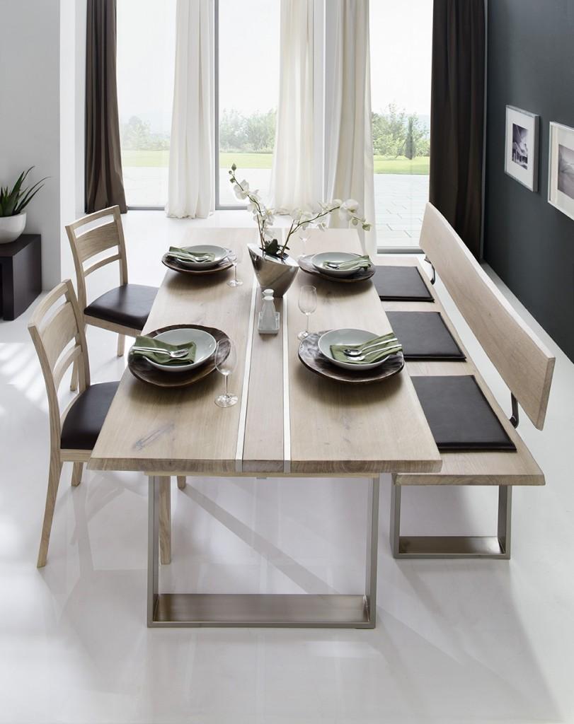 esstisch baumtisch anja wildeiche mit sch ner naturkante. Black Bedroom Furniture Sets. Home Design Ideas