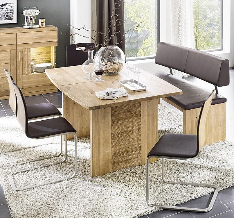 esstisch wangentisch bettina in bootsform wildeiche ge lt o lackiert. Black Bedroom Furniture Sets. Home Design Ideas