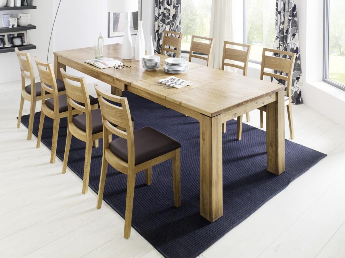 esstisch hanna in kernbuche oder wildeiche massivholz fu 12 x 12 cm. Black Bedroom Furniture Sets. Home Design Ideas