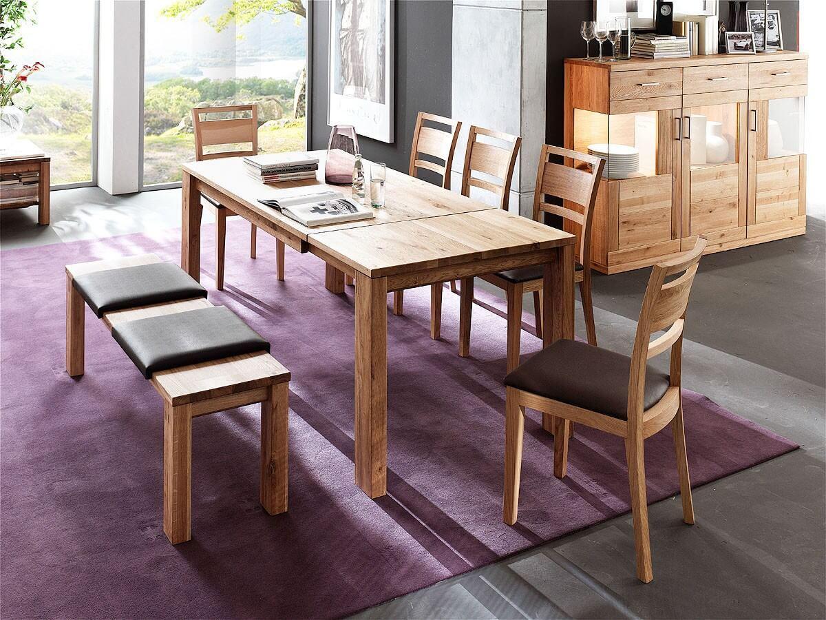 loft tisch esstisch diana in kernbuche oder wildeiche. Black Bedroom Furniture Sets. Home Design Ideas