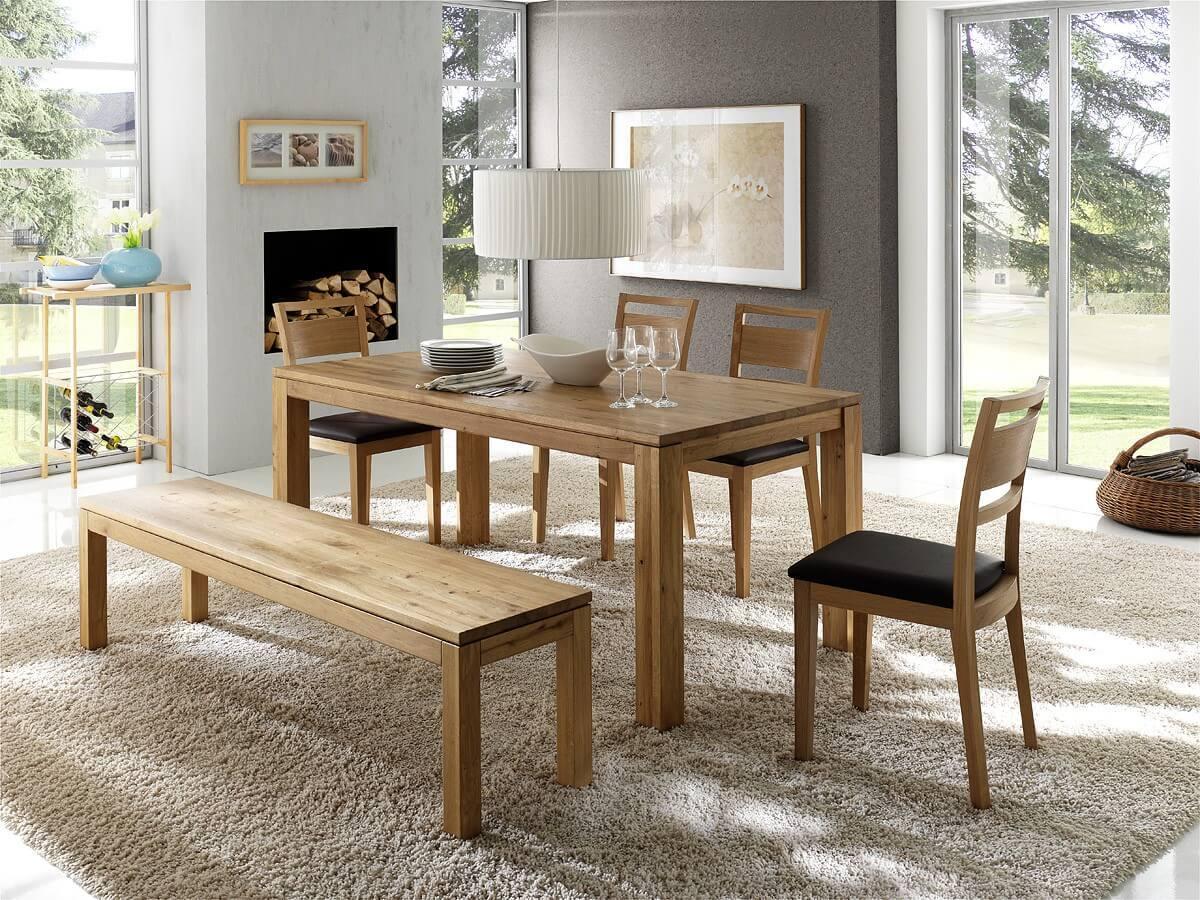 esstisch dora in kernbuche oder wildeiche massivholz fu 9 x 9 cm. Black Bedroom Furniture Sets. Home Design Ideas