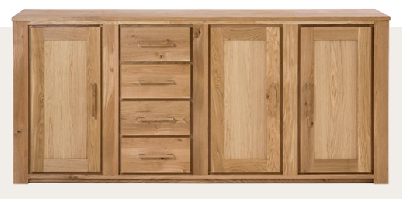 Henke schrank sideboard virginia 903 wildeiche massiv for Schrank wildeiche