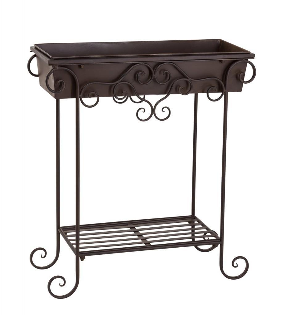 blumenst nder arcolana blumenkasten metall dunkel antik. Black Bedroom Furniture Sets. Home Design Ideas