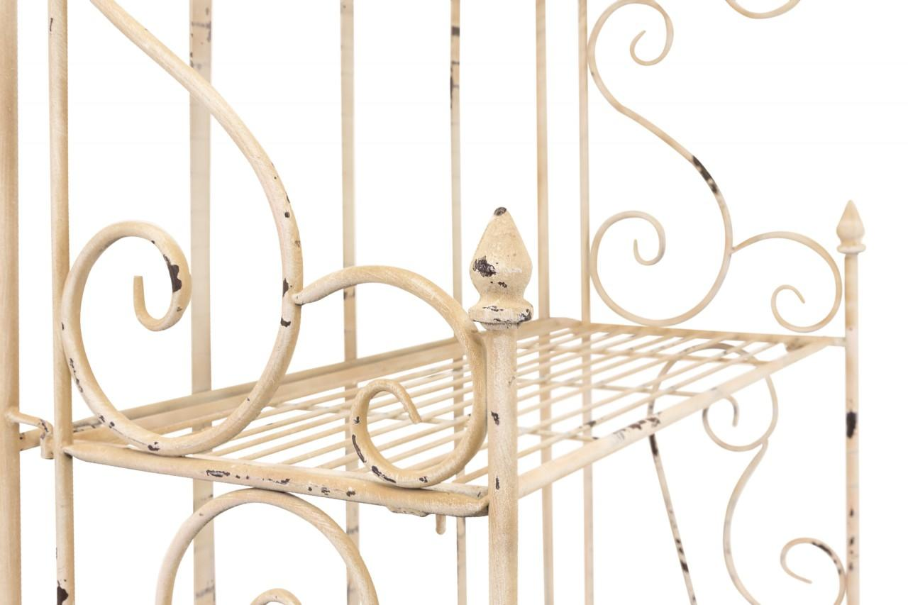regal eisenregal maturi klappbar antik wei lackiert mit 5 b den. Black Bedroom Furniture Sets. Home Design Ideas