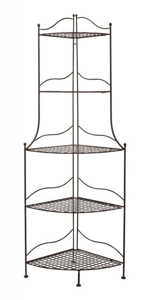eckregal eisenregal sanna metallregal antik braun lackiert. Black Bedroom Furniture Sets. Home Design Ideas