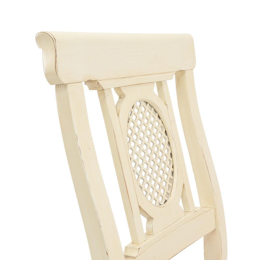 Stuhl verona esszimmerstuhl mit ziergitter fichte for Design stuhl gitter