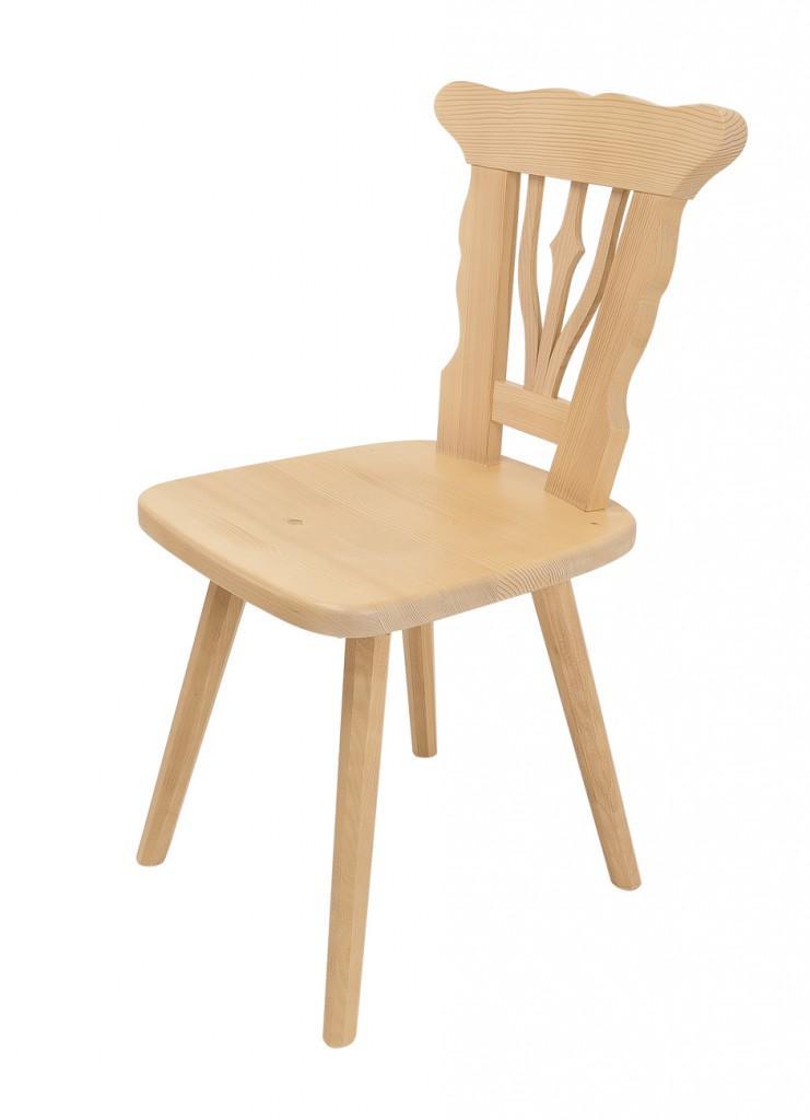 Stuhl Tirol Esszimmerstuhl im Landhausstil, Fichte Massiv lackiert