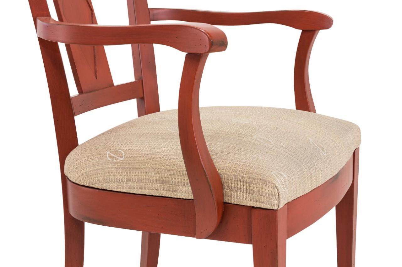 Armlehnstuhl jean 4er set sessel mit gepolsterter for Esszimmer armlehnstuhl