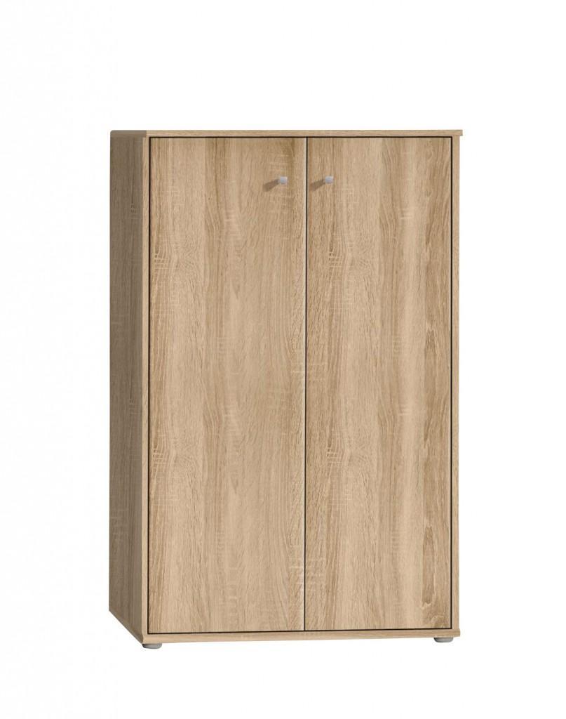 kommode tempra 72 111 mit 2 t ren sonoma eiche s gerau optik von forte. Black Bedroom Furniture Sets. Home Design Ideas