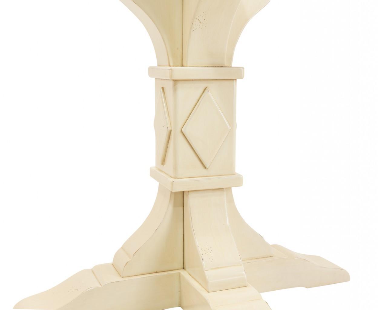 Esstisch mit Kreuzfuß Säulentisch in massiver Fichte lackiert ~ Esstisch Fichte
