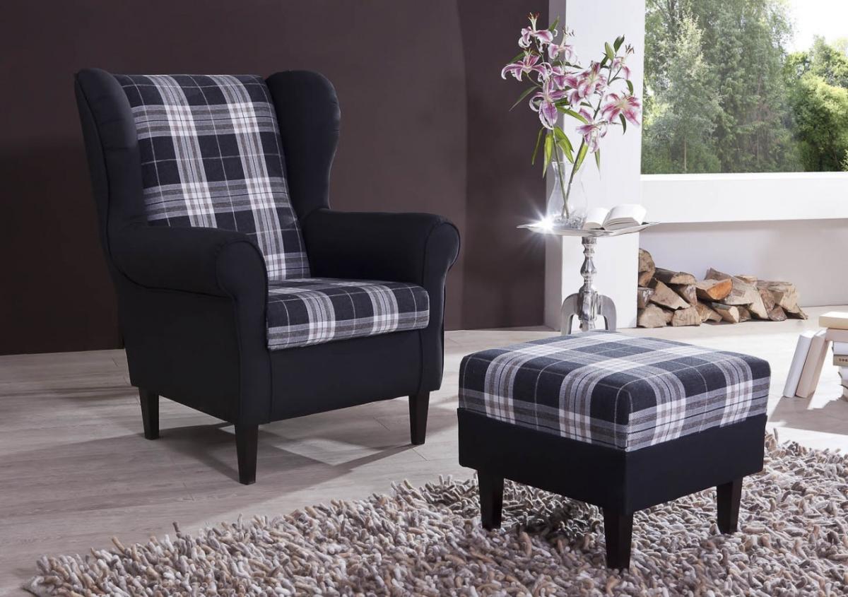 polstersessel ohrensessel aversa mit sch ner. Black Bedroom Furniture Sets. Home Design Ideas