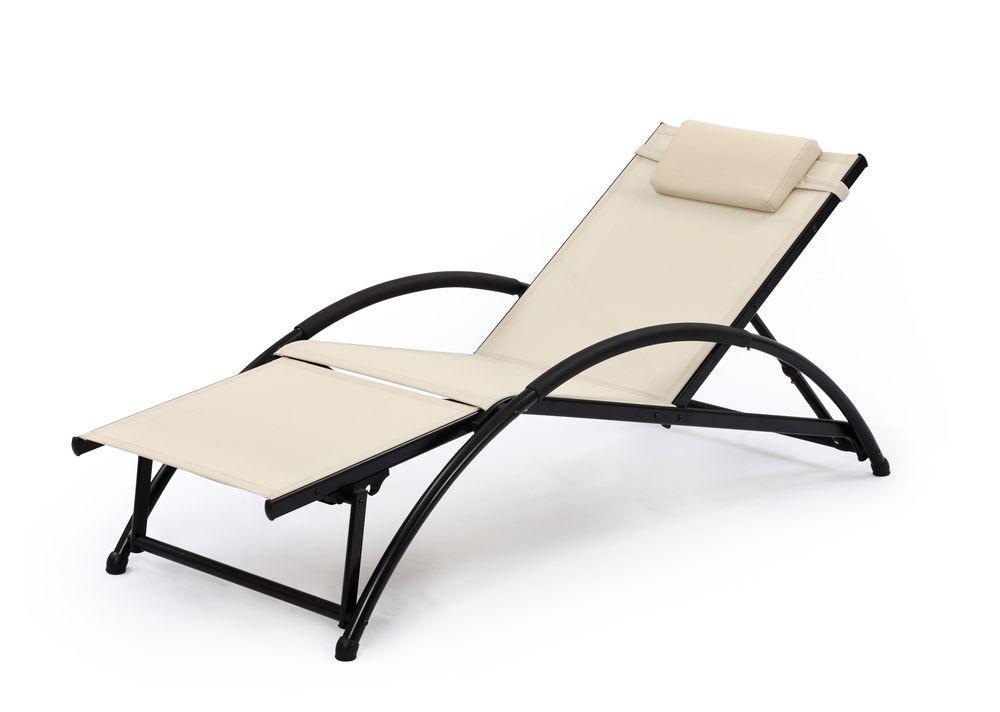 gartenliege sonnenliege korfu aluminium textilene beige. Black Bedroom Furniture Sets. Home Design Ideas