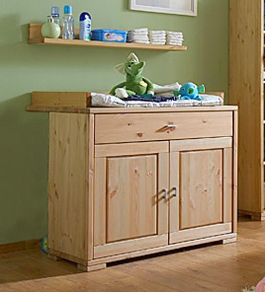 wickelkommode guldborg kommode 2 t ren mit verbreiterung kiefer massiv. Black Bedroom Furniture Sets. Home Design Ideas