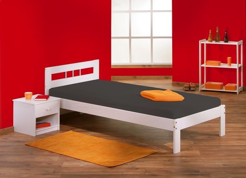 bett fana einzelbett futonbett 90x200 kiefer massiv wei. Black Bedroom Furniture Sets. Home Design Ideas