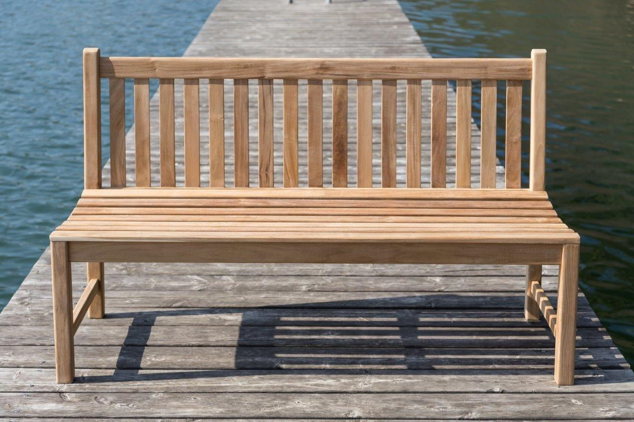 gartenbank picadelly 120 cm in premium teak ohne armlehne. Black Bedroom Furniture Sets. Home Design Ideas