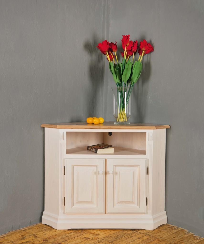woodline kommode eckkommode chiemgau 91050 klein fichte massiv wei. Black Bedroom Furniture Sets. Home Design Ideas