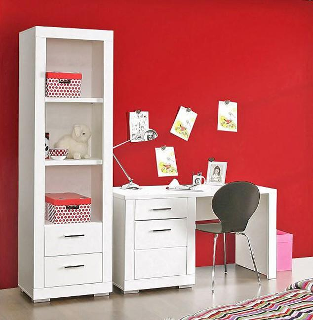 regal snow b cherregal 2 schubladen breite 61 cm wei matt forte. Black Bedroom Furniture Sets. Home Design Ideas