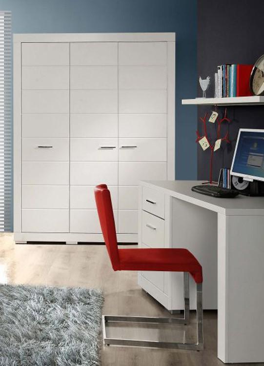 kleiderschrank snow schrank 3 t ren facheinteilung wei matt. Black Bedroom Furniture Sets. Home Design Ideas