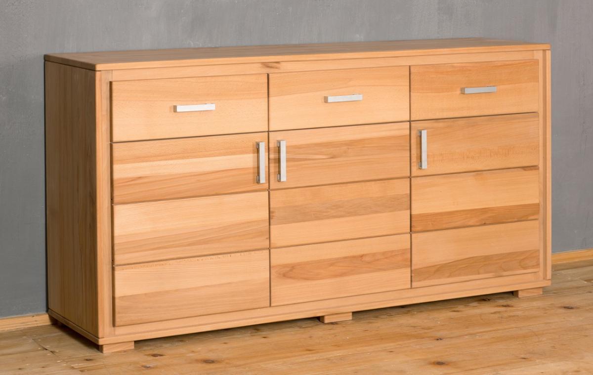 Sideboard anrichte genf 3 t rig kernbuche massivholz ge lt for Sideboard esszimmer design