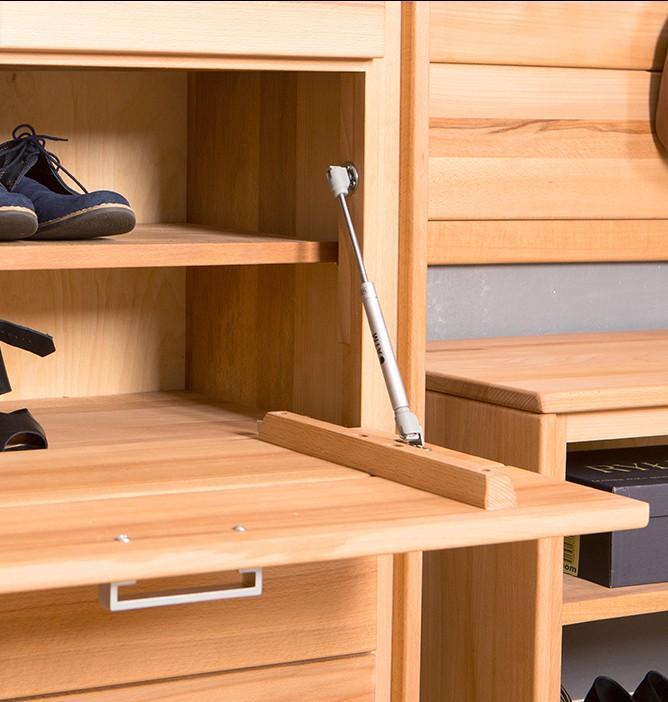 schuhschrank schuhkipper genf 61 cm kernbuche massiv ge lt gewachst. Black Bedroom Furniture Sets. Home Design Ideas