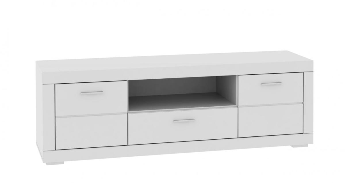 tv board snow lowboard 196 cm 2 t ren 1 schub wei matt. Black Bedroom Furniture Sets. Home Design Ideas