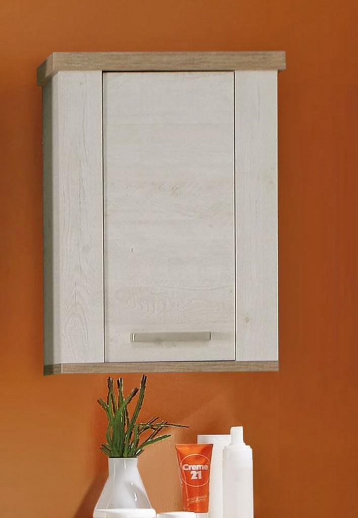 badezimmer h ngeschrank duro 1 t r pinia wei und eiche. Black Bedroom Furniture Sets. Home Design Ideas