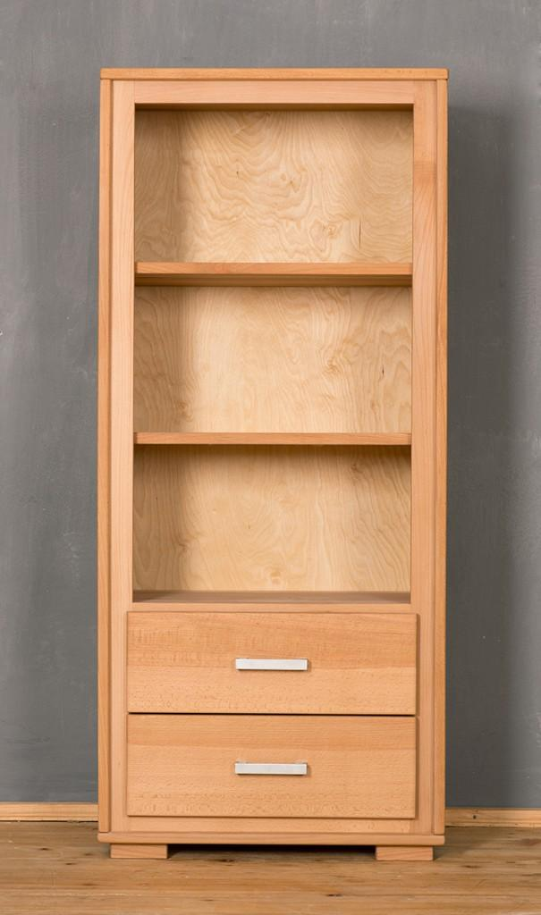 regal genf 139 cm 2 schubl den kernbuche massivholz ge lt gewachst. Black Bedroom Furniture Sets. Home Design Ideas