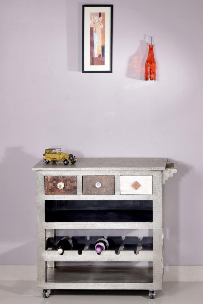 Küchenwagen 1387-97 Metal&Bone von SIT aus Mango Messing Metall Kupfer